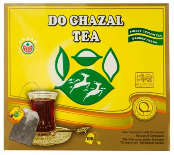 Do Gazhal - Schwarztee mit Kardamomgeschmack - 100 Teebeutel